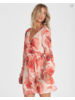 billabong billabong ruffled wrap dress