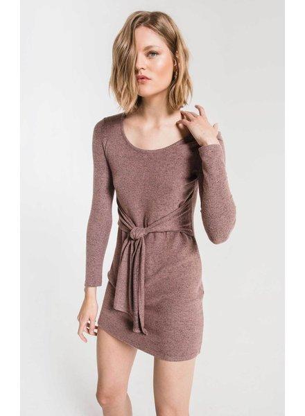 z supply marled wrap dress