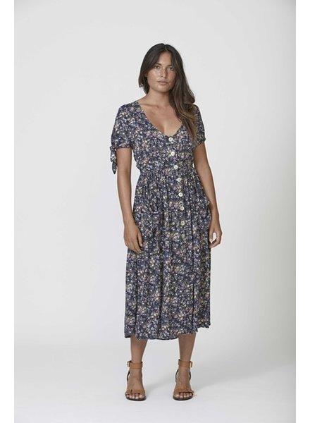 auguste the label lola meadow midi dress