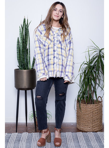 free people calico basin plaid jacket