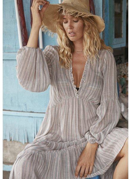 auguste the label maze dunes midi dress