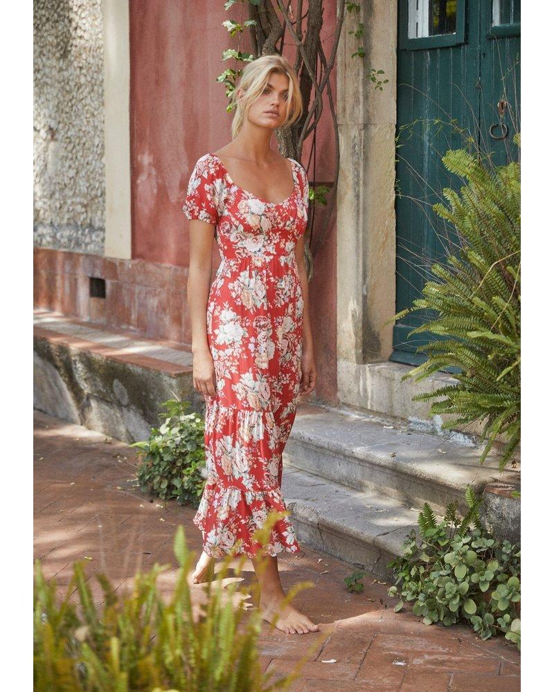 auguste reverie flora midi dress
