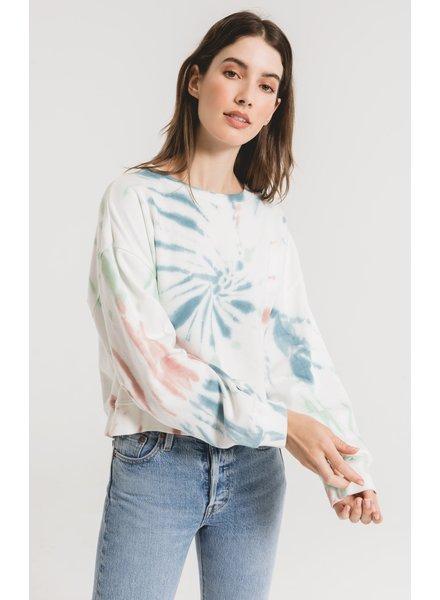 z supply multi color tie dye pullover