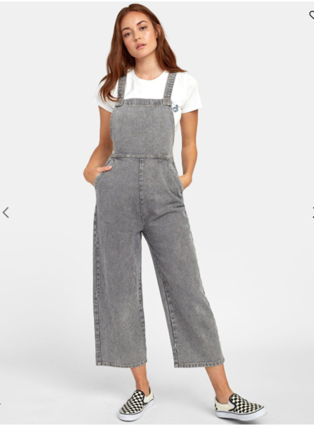 rvca crystal denim overall