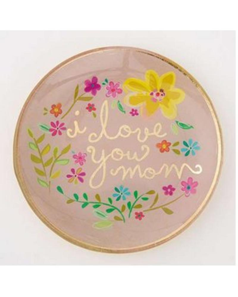 natural life natural life i love you mom glass tray