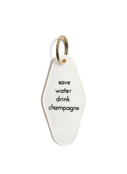 he said, she said save water keychain