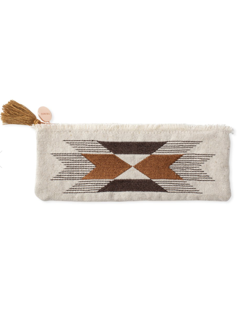 fringe studio stitched arrow pouch