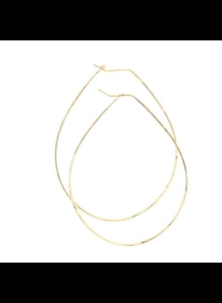 lotus jewelry studio pear hoop earrings