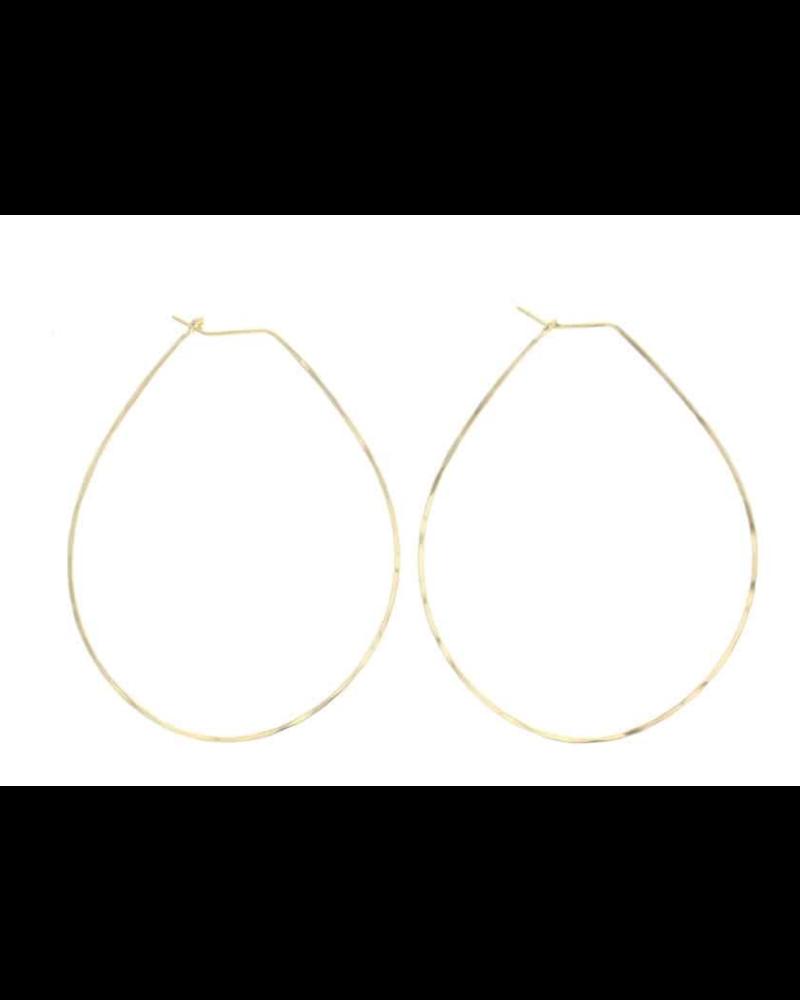 lotus jewelry studio lotus pear hoop earrings
