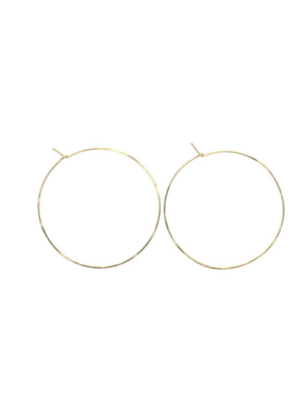 lotus jewelry studio round hoop earrings
