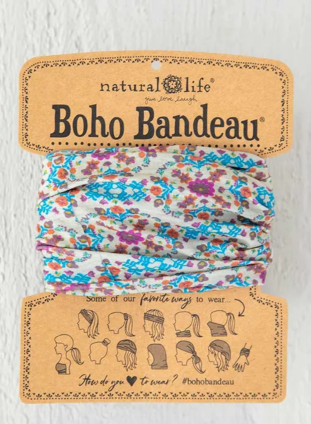 natural life natural life grey flower stamp boho bandeau