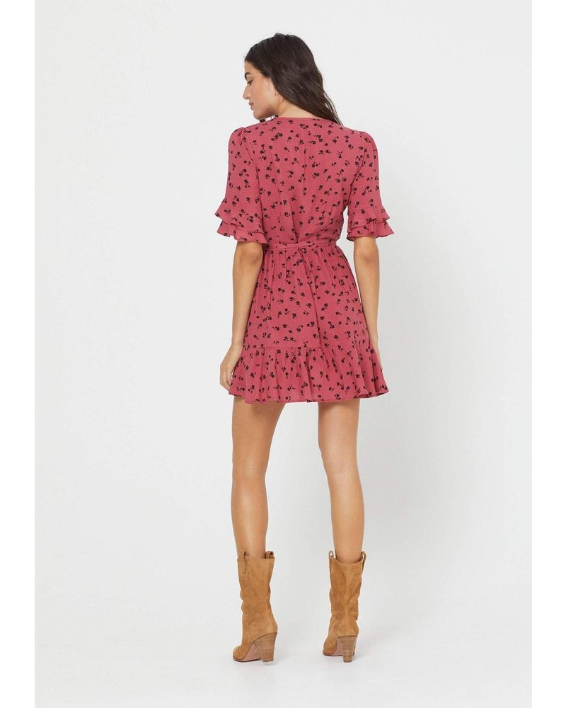 auguste the label mabel goldie wrap mini dress