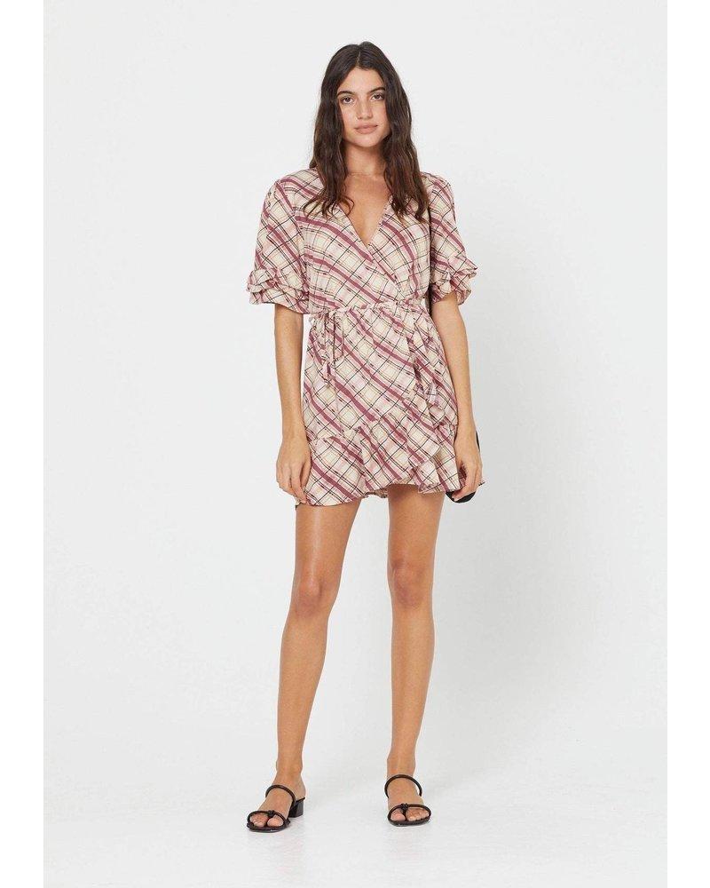 auguste the label sloane wrap mini dress