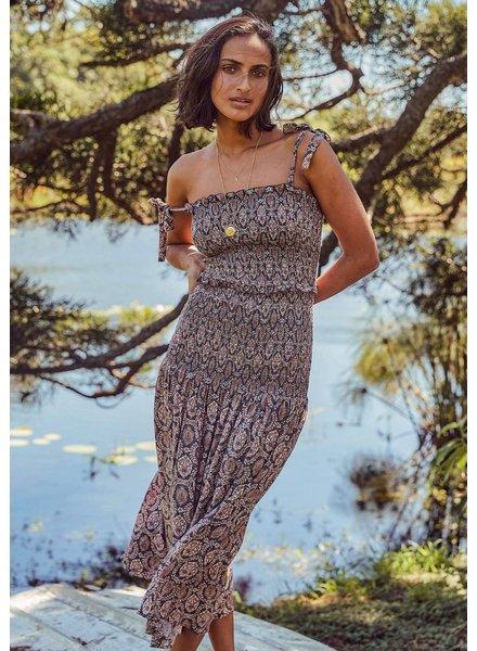 auguste the label montague bennett midi dress