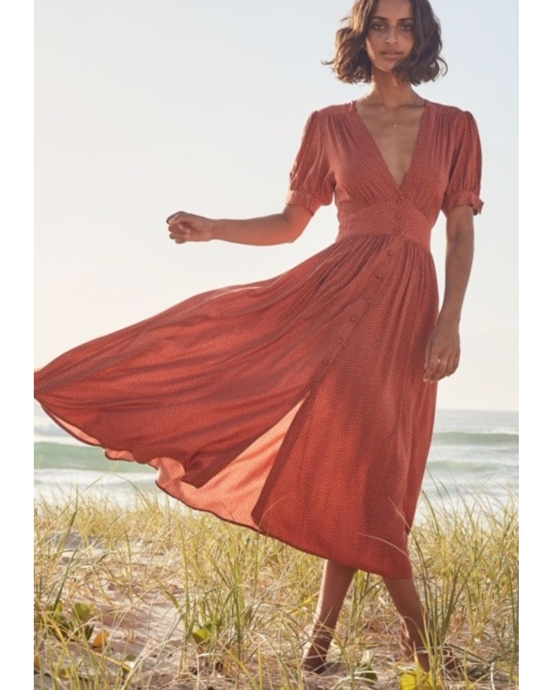 auguste the label auguste florence maple midi dress