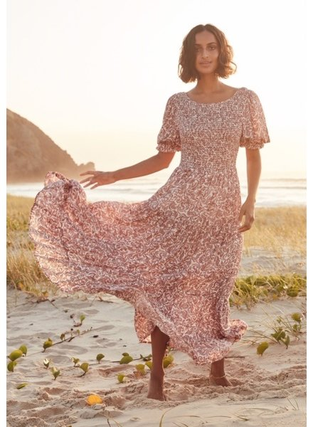auguste the label auguste freya lise sleeved maxi dress