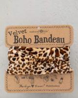 natural life natural life boho bandeau velvet brown leopard