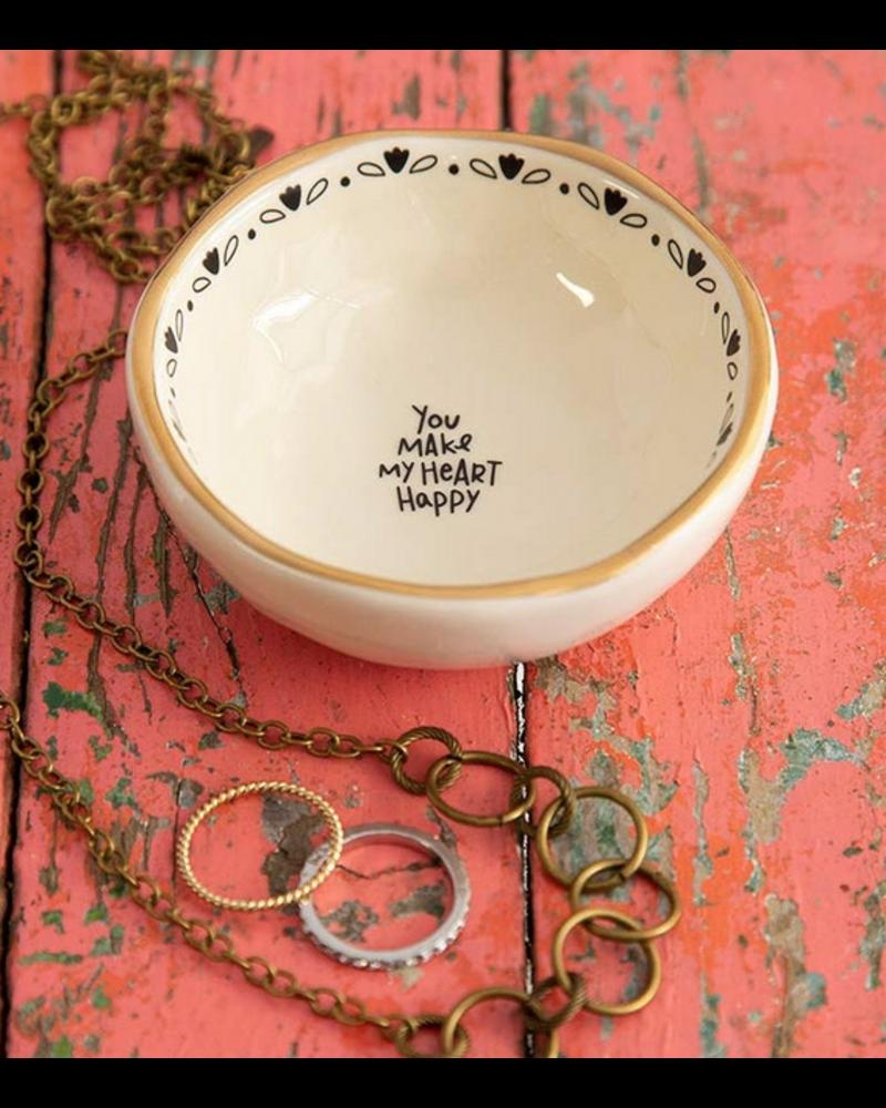 natural life natural ife heart happy trinket bowl