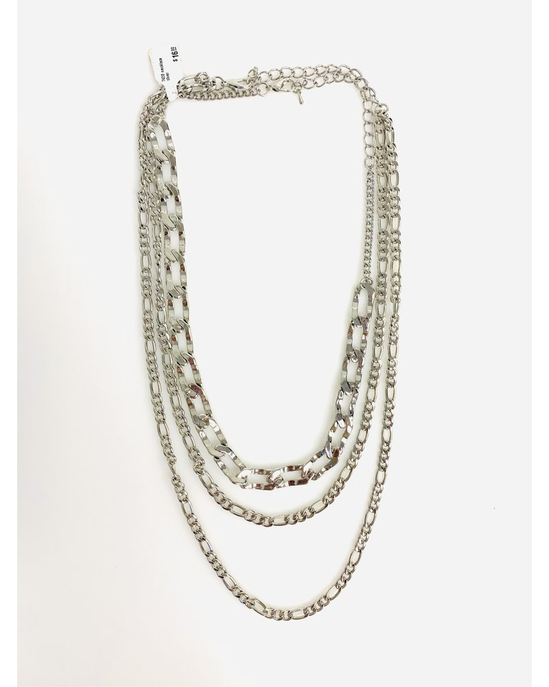 triple gold chain necklace