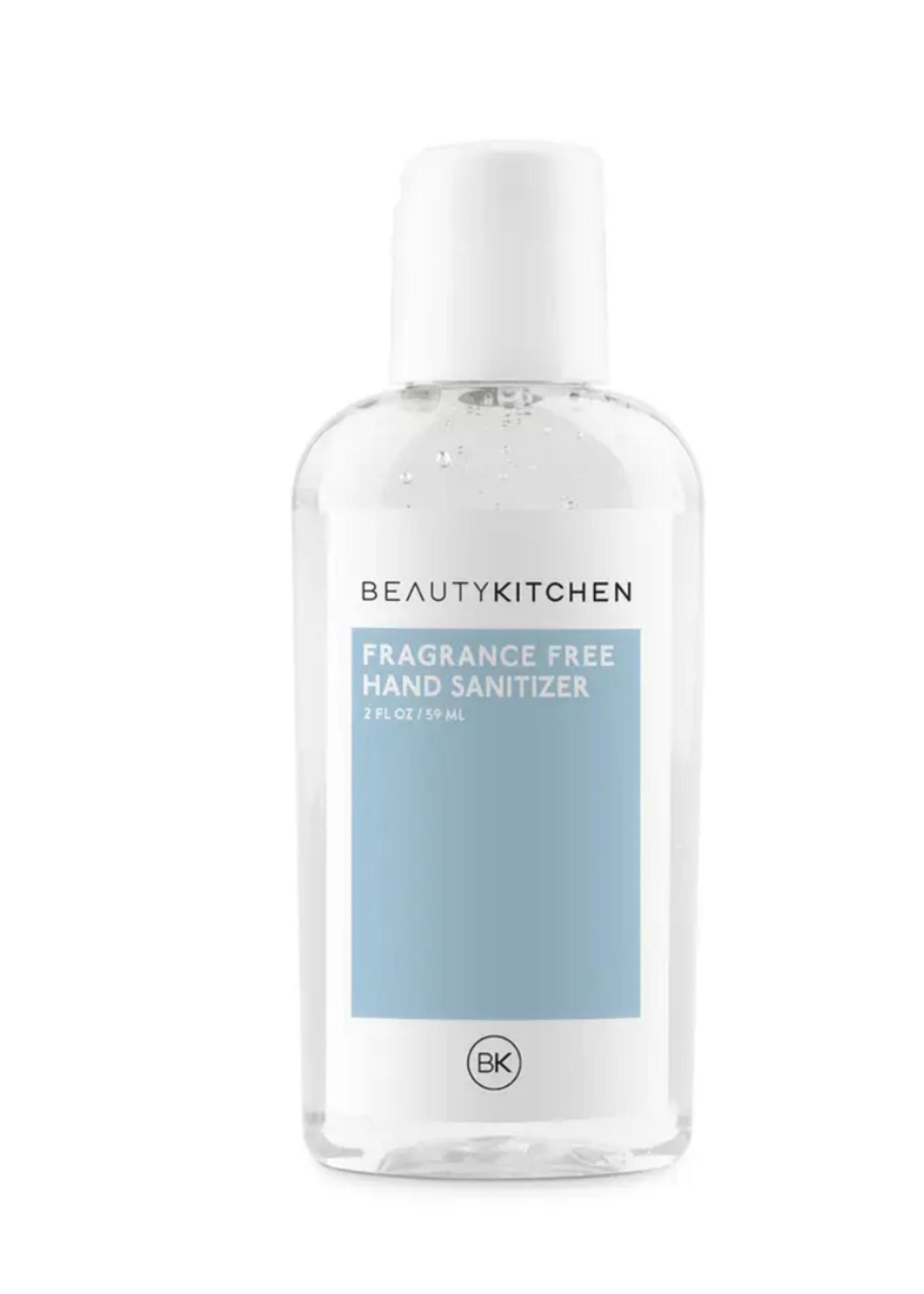 beauty kitchen fragrance free hand sanitizer