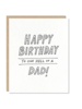 odd daughter paper company odd daughter hell of a dad card
