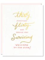 thirty flirty card