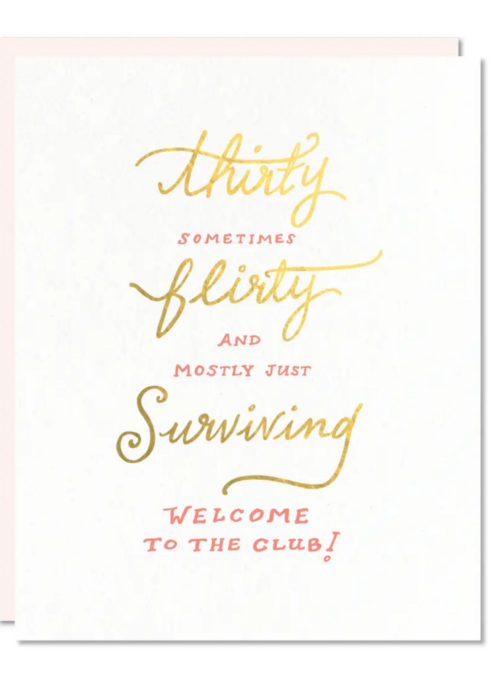 odd daughter thirty flirty card