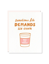 odd daughter paper company life demands ice cream card