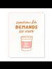 odd daughter paper company odd daughter life demands ice cream card