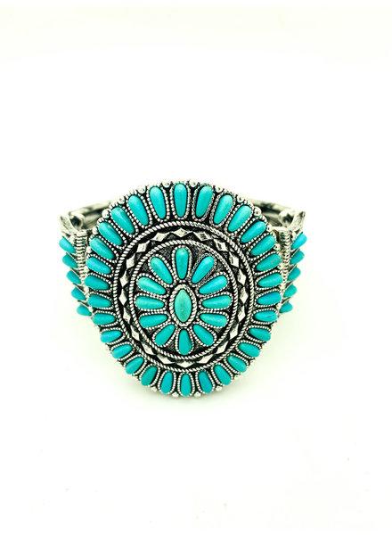 turquoise circle bracelet
