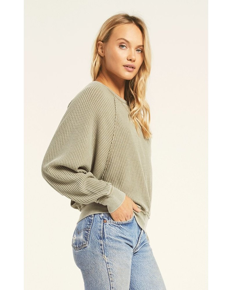 z supply z supply claire waffle l/s