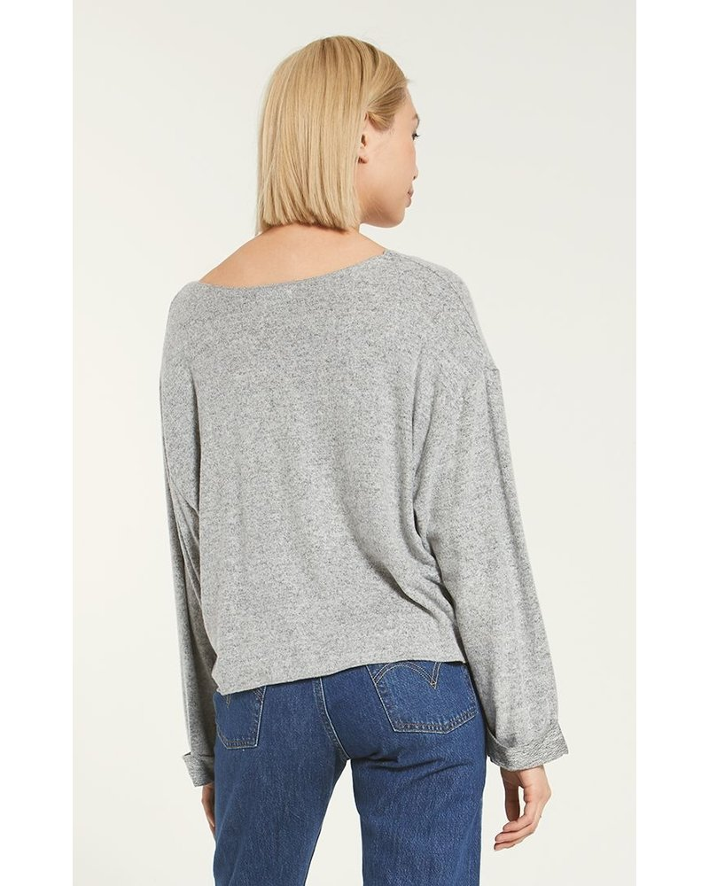 z supply z supply alpine marled pullover