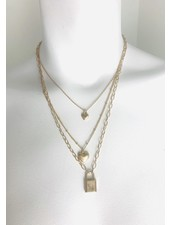 gold heart layered necklace