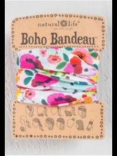 natural life pink floral boho bandeau