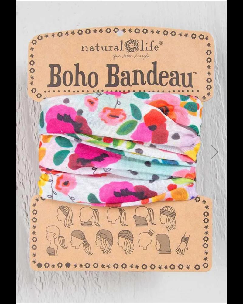 natural life natural life pink floral boho bandeau
