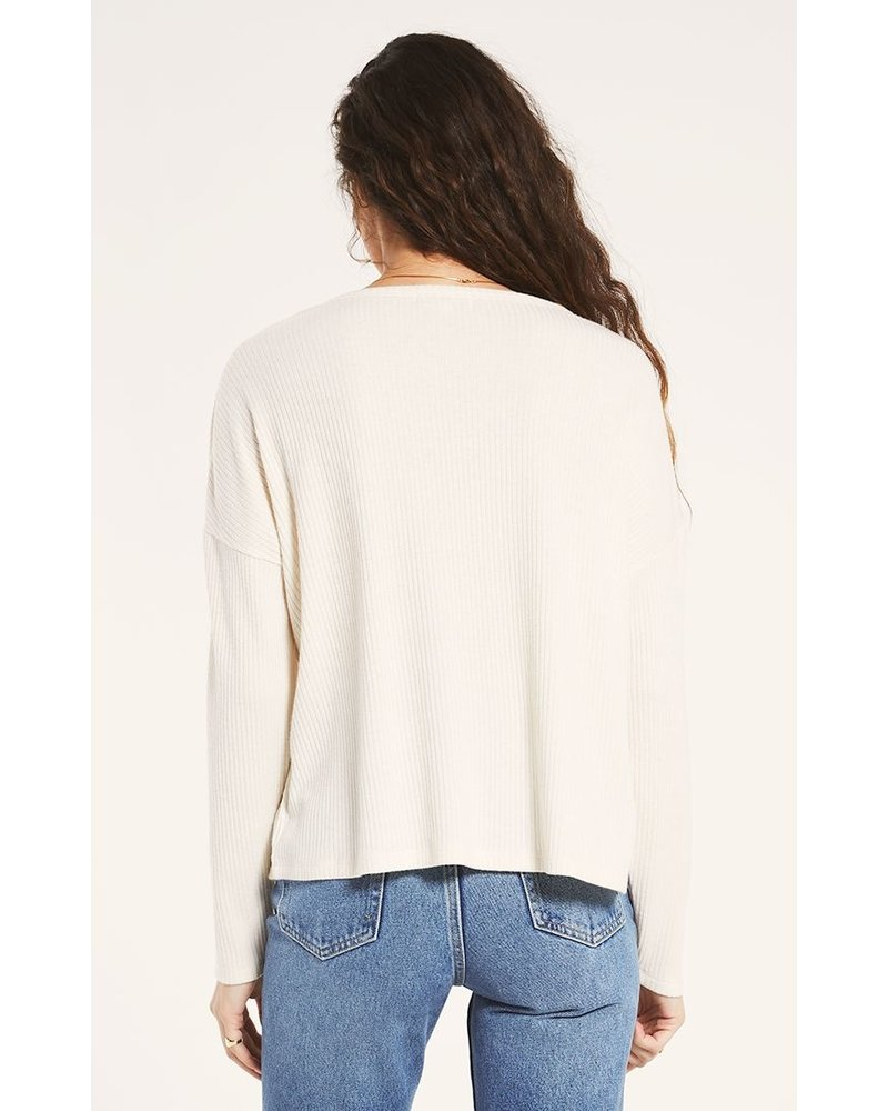z supply z supply robbie rib longsleeve top