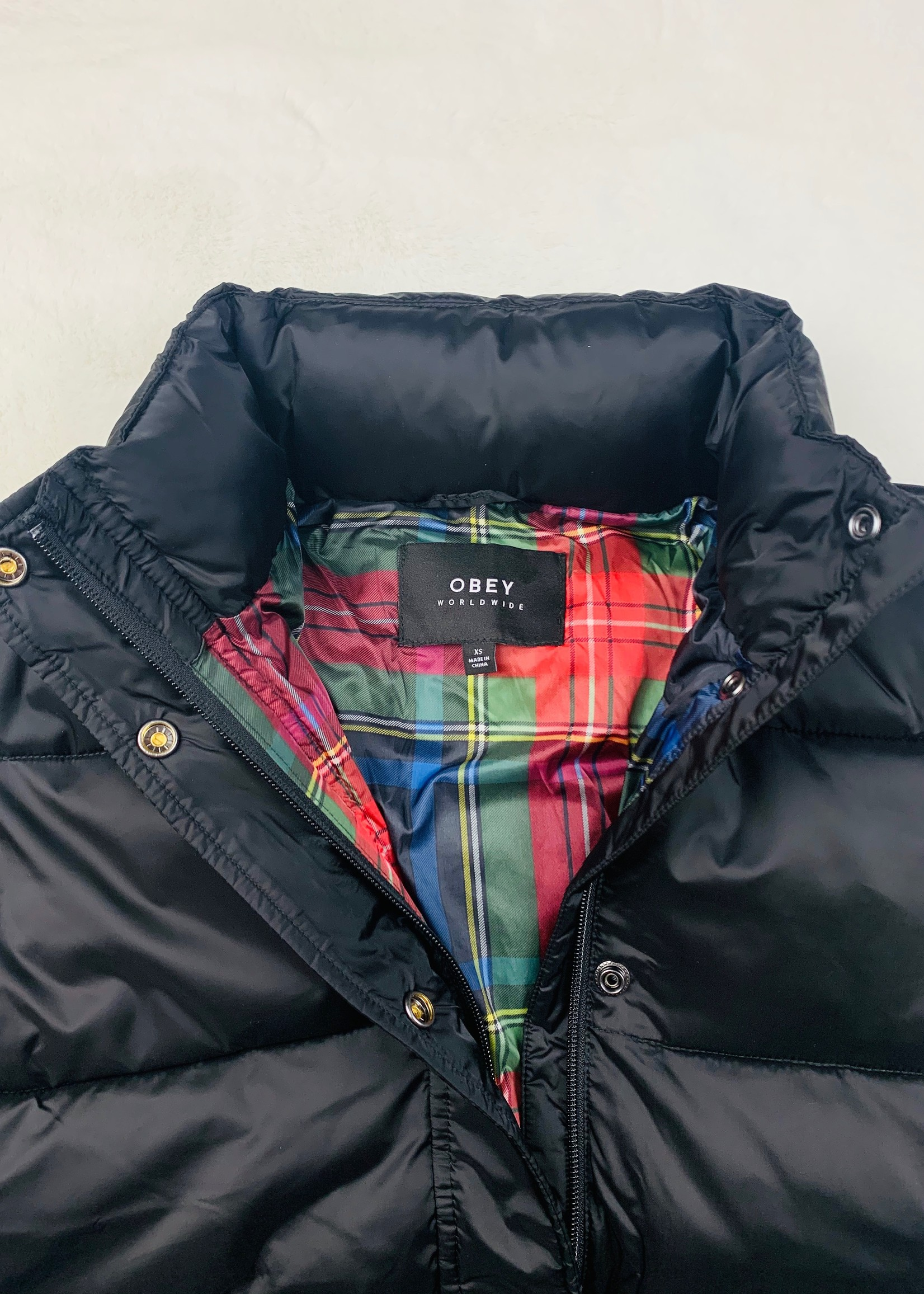 obey obey irving puffy coat