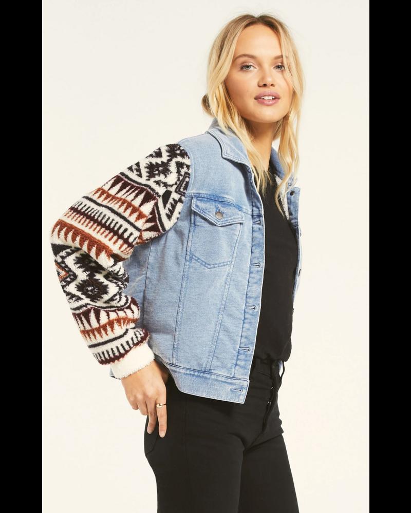 z supply z supply gia knit denim jacket