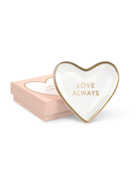 fringe studio love always tiny heart tray