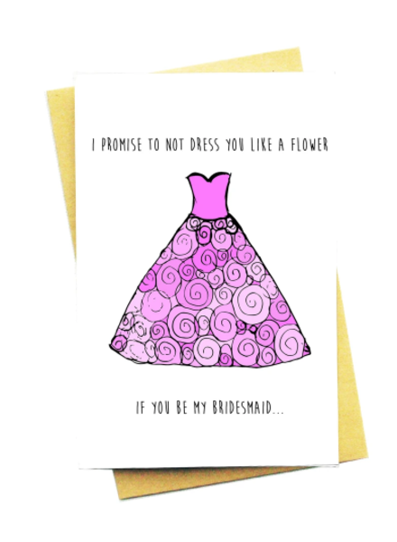 flower bridesmaid card