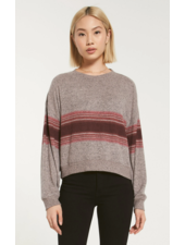 z supply elle  marled stripe l/s