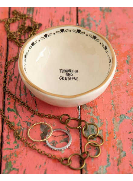 natural life thankful trinket bowl