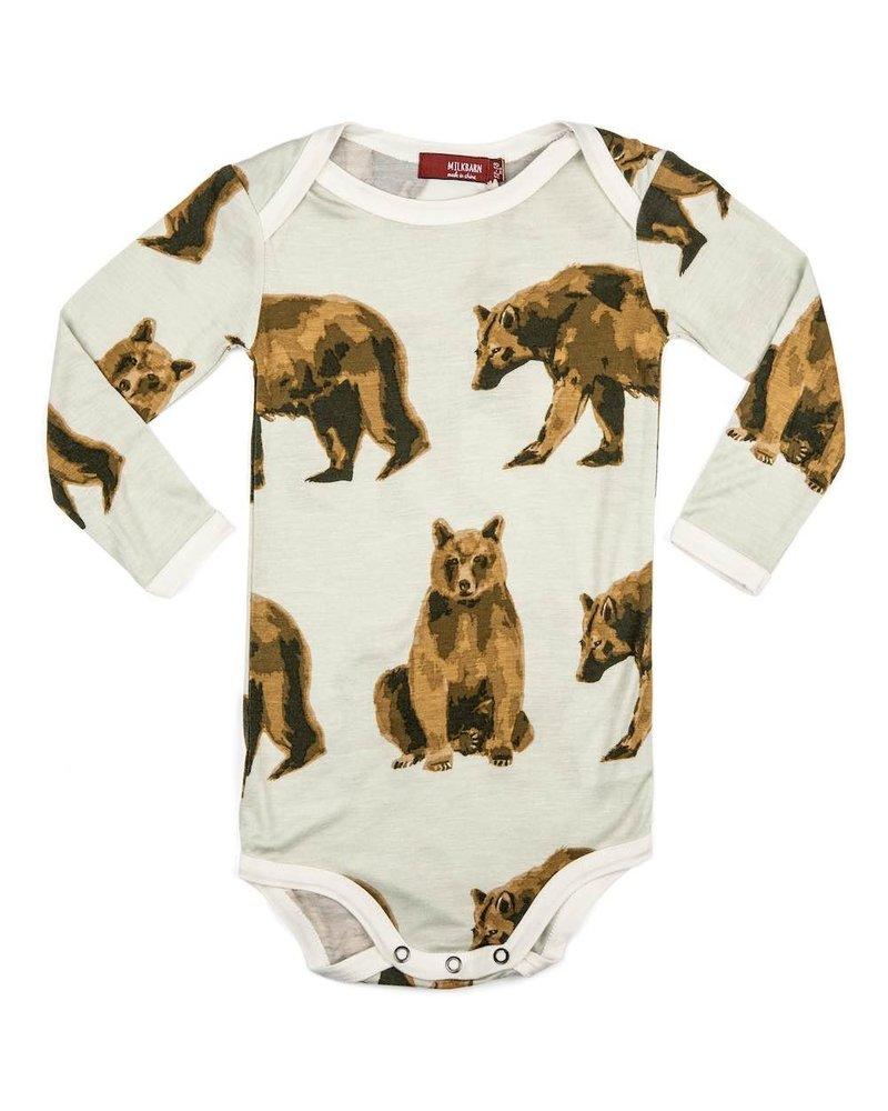 milkbarn milkbarn bear l/s one piece
