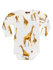 milkbarn orange giraffe l/s one piece