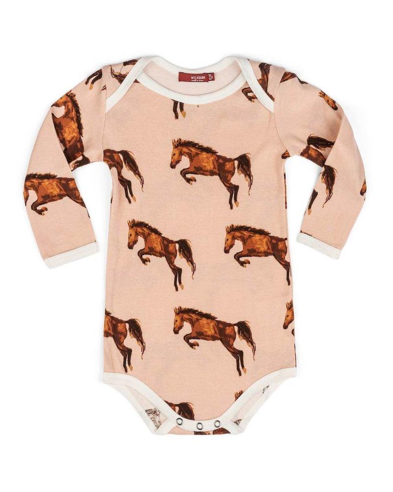 milkbarn milkbarn horse l/s one piece