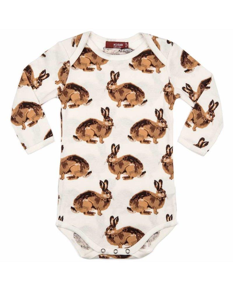 milkbarn milkbarn bunny l/s one piece