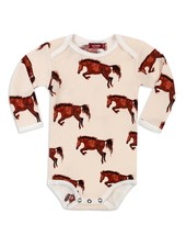 milkbarn natural horse l/s one piece