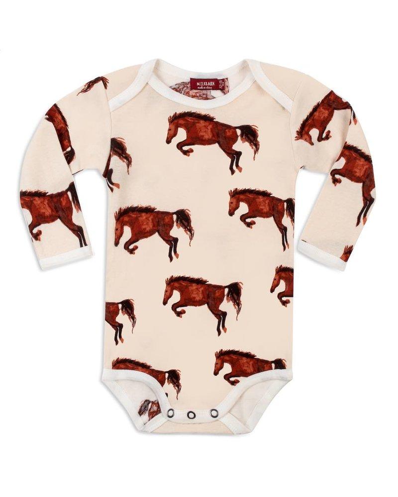 milkbarn milkbarn natural horse l/s one piece