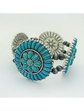 turquoise multi circle bracelet