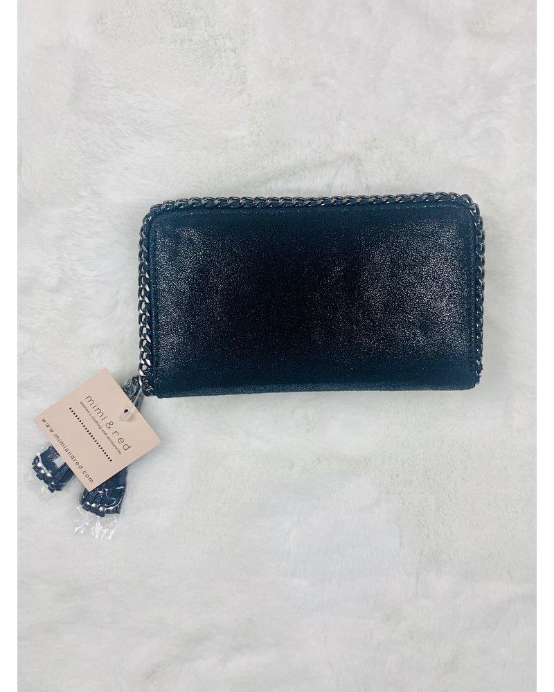 chain trim wallet or clutch